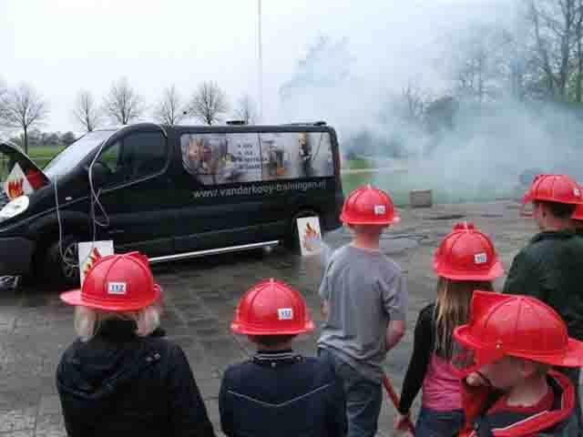 brandweer bij BSO Noordhorn