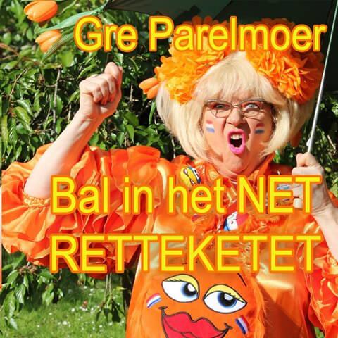 Gré Parelmoer bal in het net