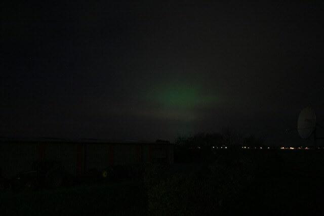 Poollicht oorzaak groene hemel