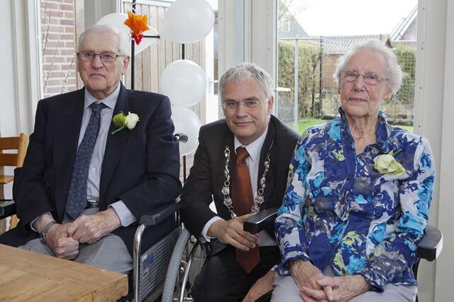 groningen de heer en mevrouw Jorritsma-Spannenburg uit Grijpskerk 60 jaar