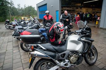 Kornhorn motortocht de wit