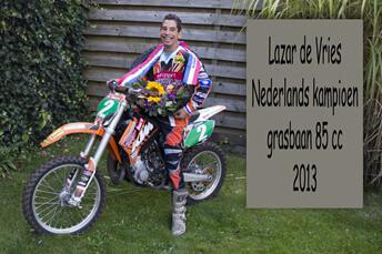 Lazar de Vries grasbaankampioen