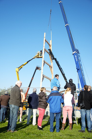 BURUM - opbouw molen Windlust