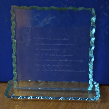 SURHUISTERVEEN - glazen bordje