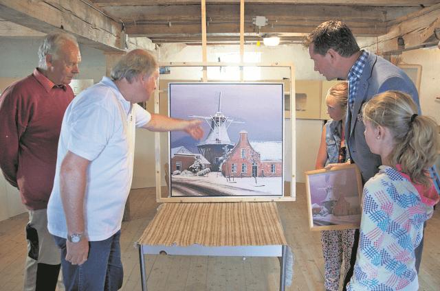 Noordhorn - schilderij molen