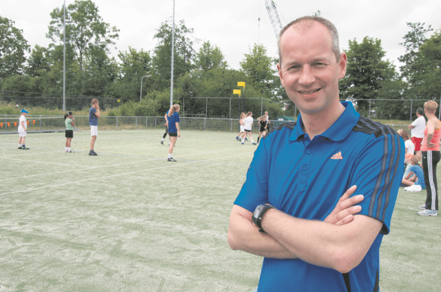 Zuidhorn - korfbalvoorzitter Matthijs