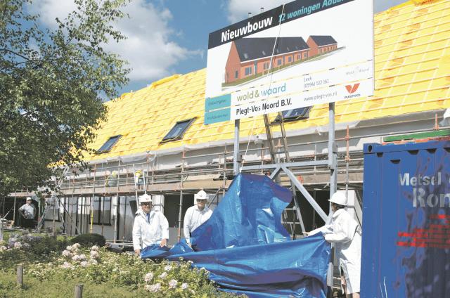Aduard - onthulling bouwbord