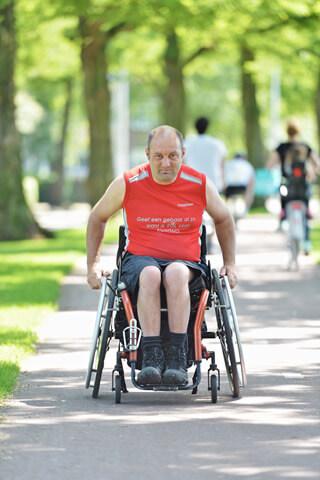 Pieterburen - rolstoeler christiaan mensinga