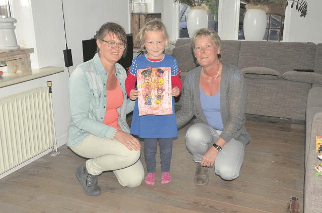 Zuidhorn - winnares kleurplaatwedstrijd