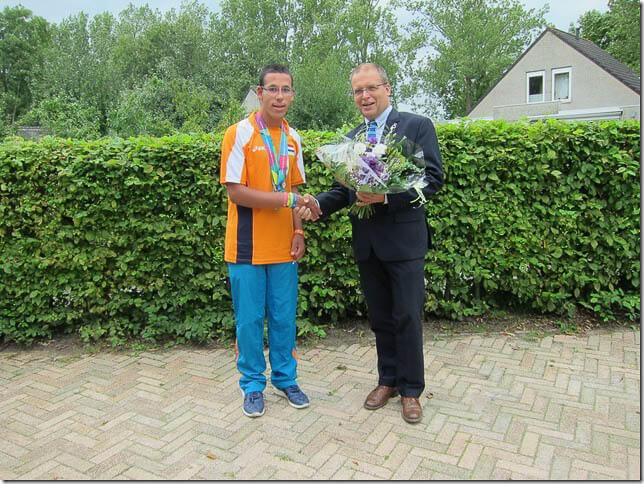 Jozua van der Roest en Wethouder Nederveen