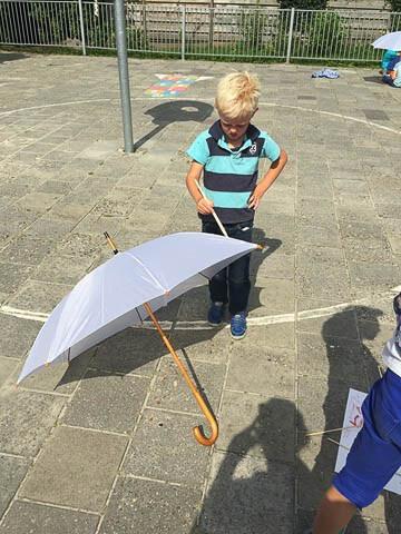 paraplu verven struuntocht