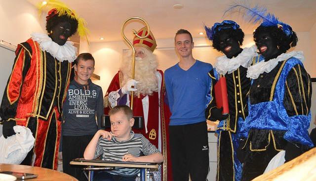 Sinterklaas op visite bij Pascal Wegter