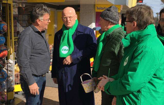 Minister Grapperhaus Met CDA Op Campagne In Surhuisterveen