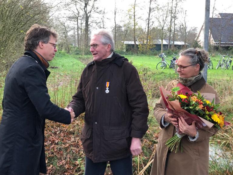 Koninklijke onderscheiding voor Egbert Renkema uit Niekerk